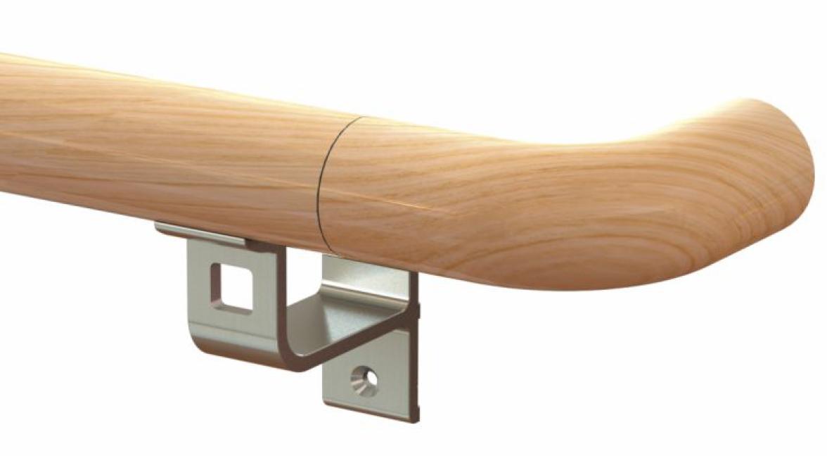 Corrimano light in acciaio e legno WHL40