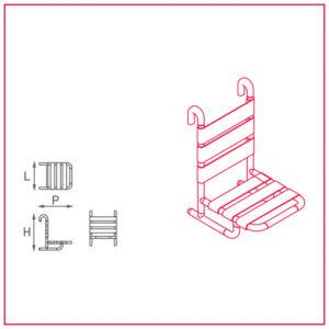 seggiolino asportabile con schienale ribaltabile cornice